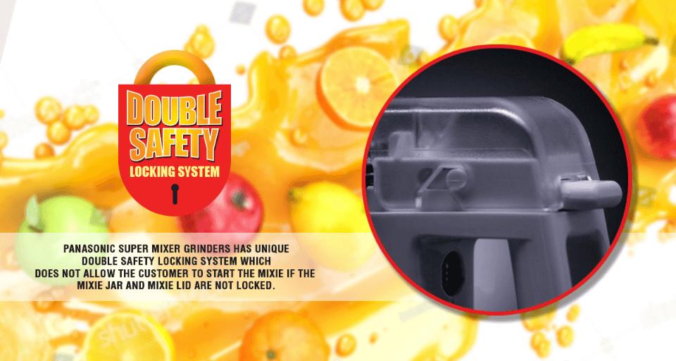 Panasonic Mixer Grinder MX AC555 Double Safety