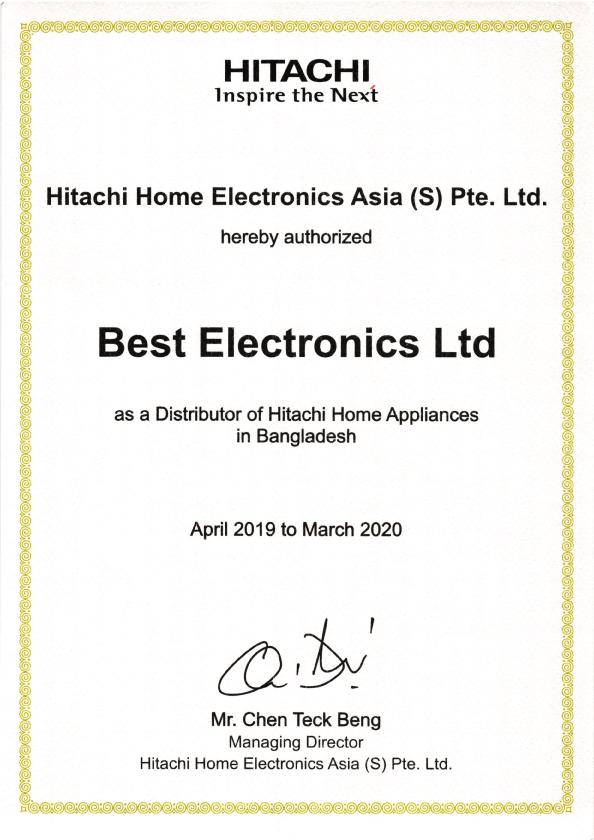 Hitachi-Certificate