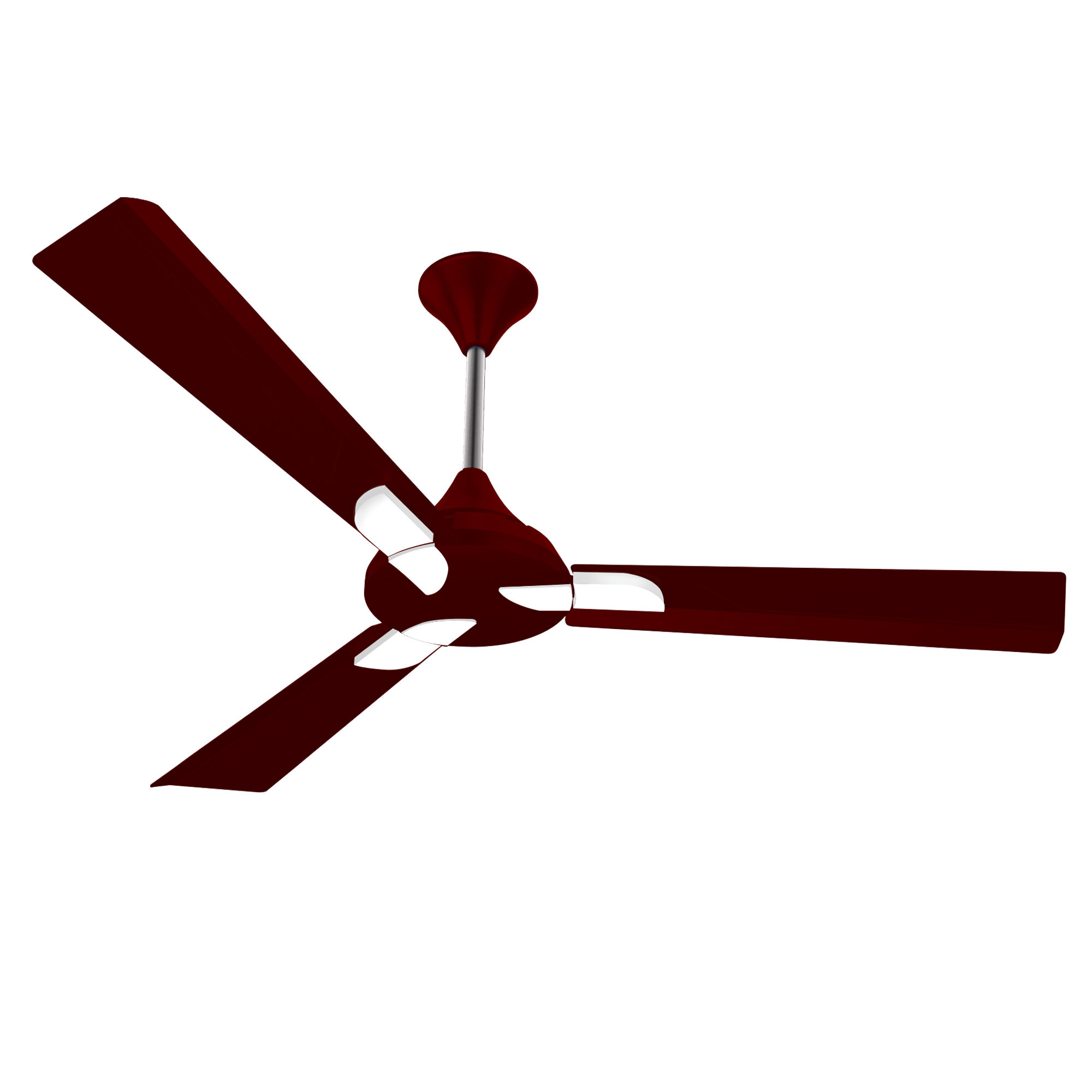 "Conion Ceiling Fan Alpha 56"" 3 Blades (Brilliant Maroon)"