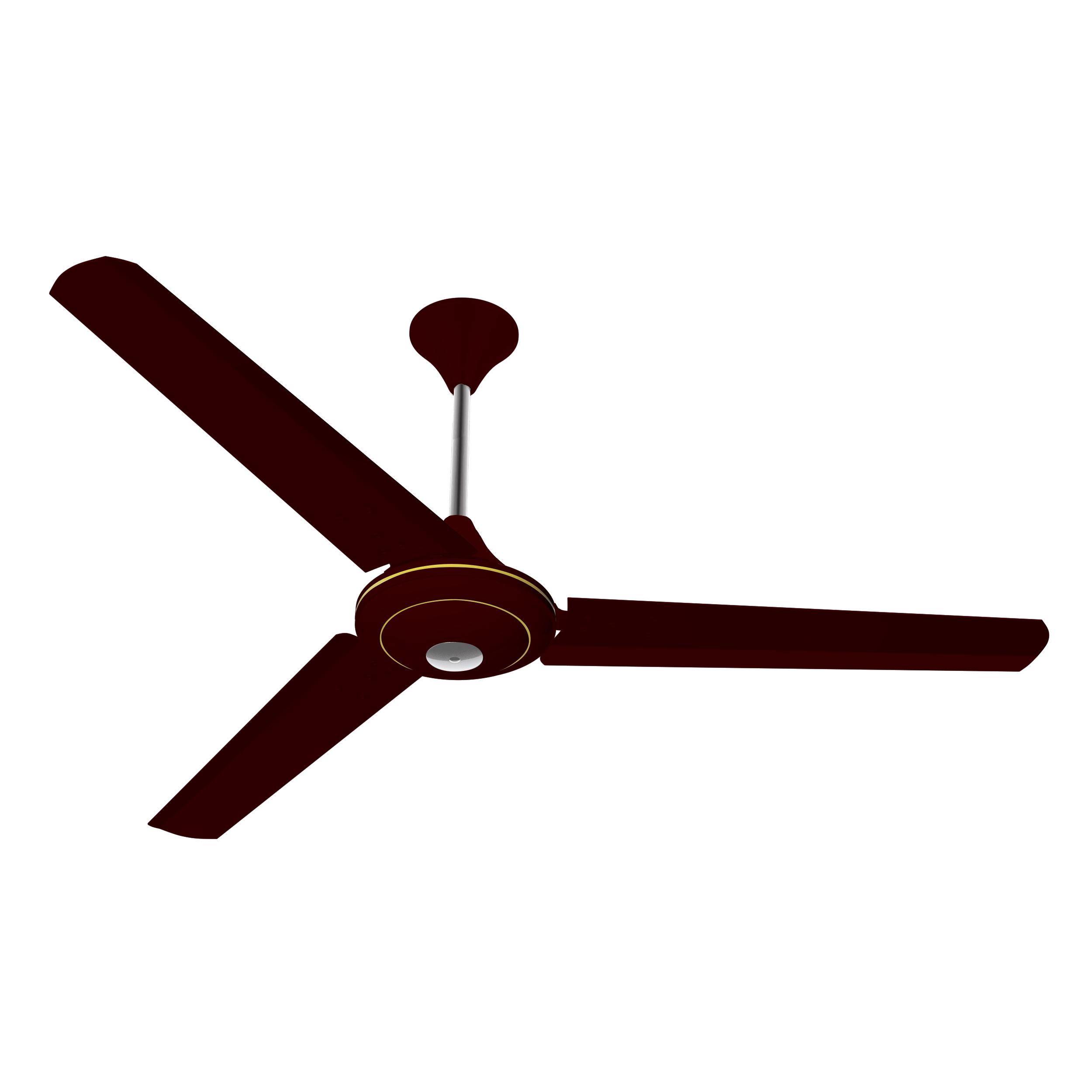 "Conion Ceiling Fan Florence 56"" 3 Blades (Brilliant Maroon)"