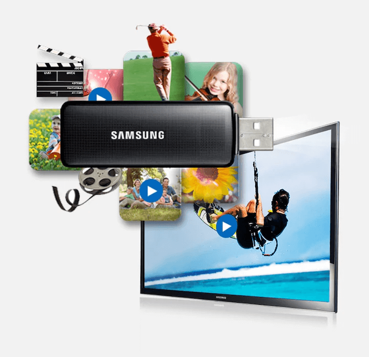 "Samsung 40"" J5000 Full HD TV Watch movies from your USB"