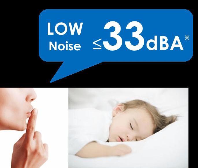 Low Noise - Quiet Operation