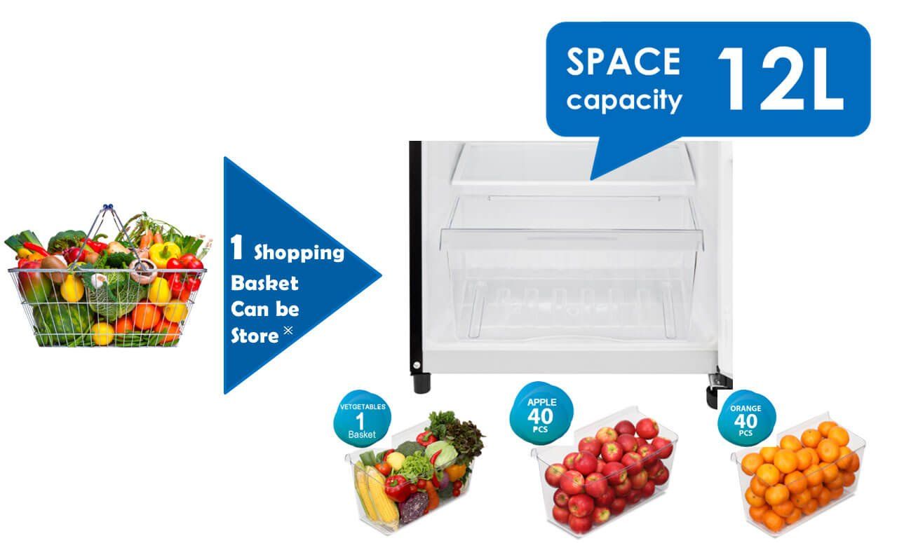 Freshness Room and Smooth Crisper of toshiba