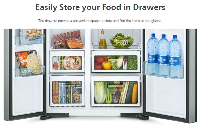 Easily Store your Food in Drawers